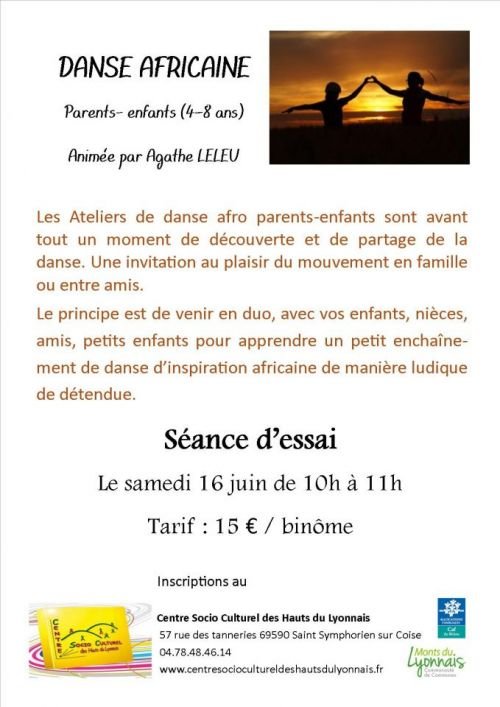 Atelier Danse Africaine Parents - Enfants